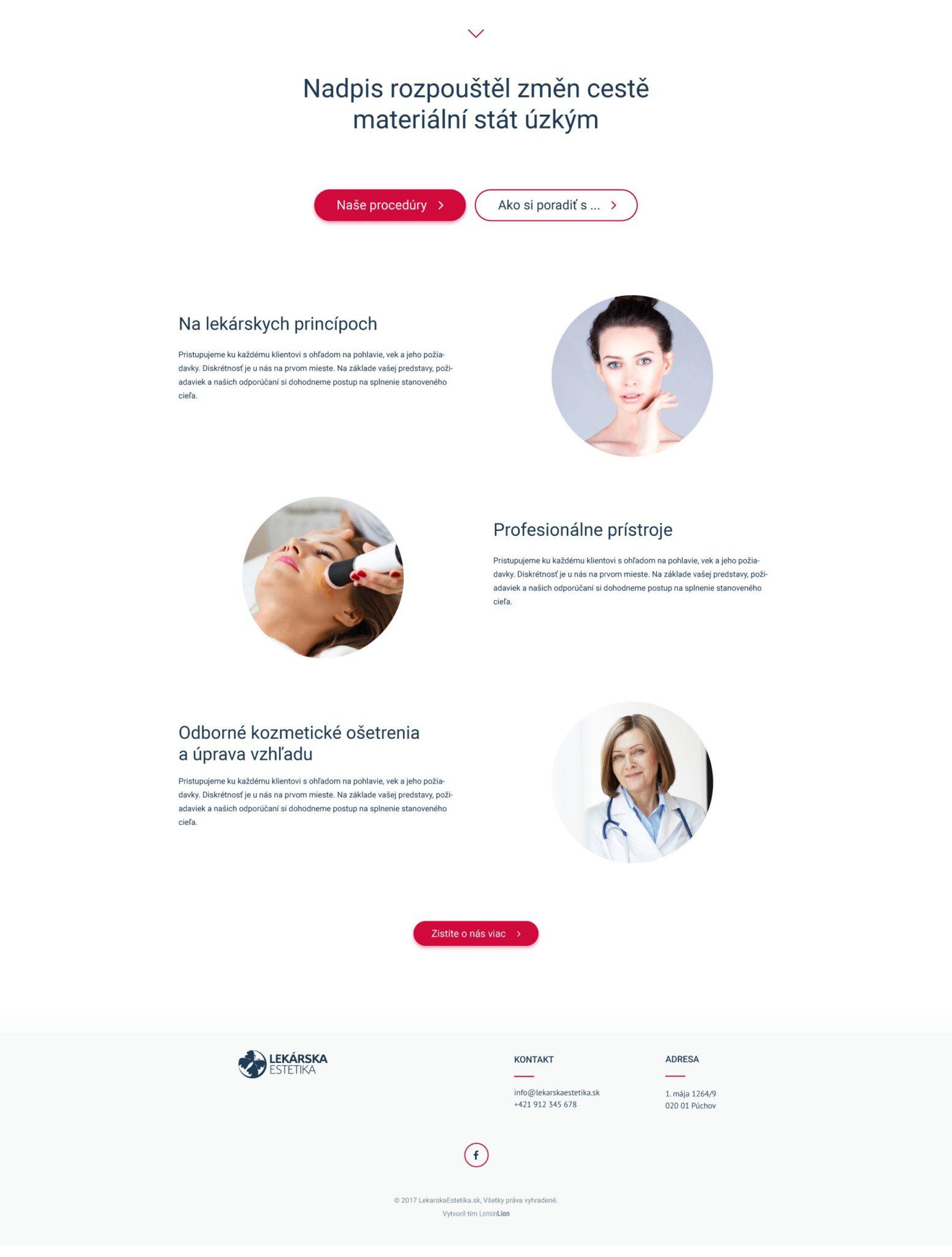 Lekárska estetika - Púchov