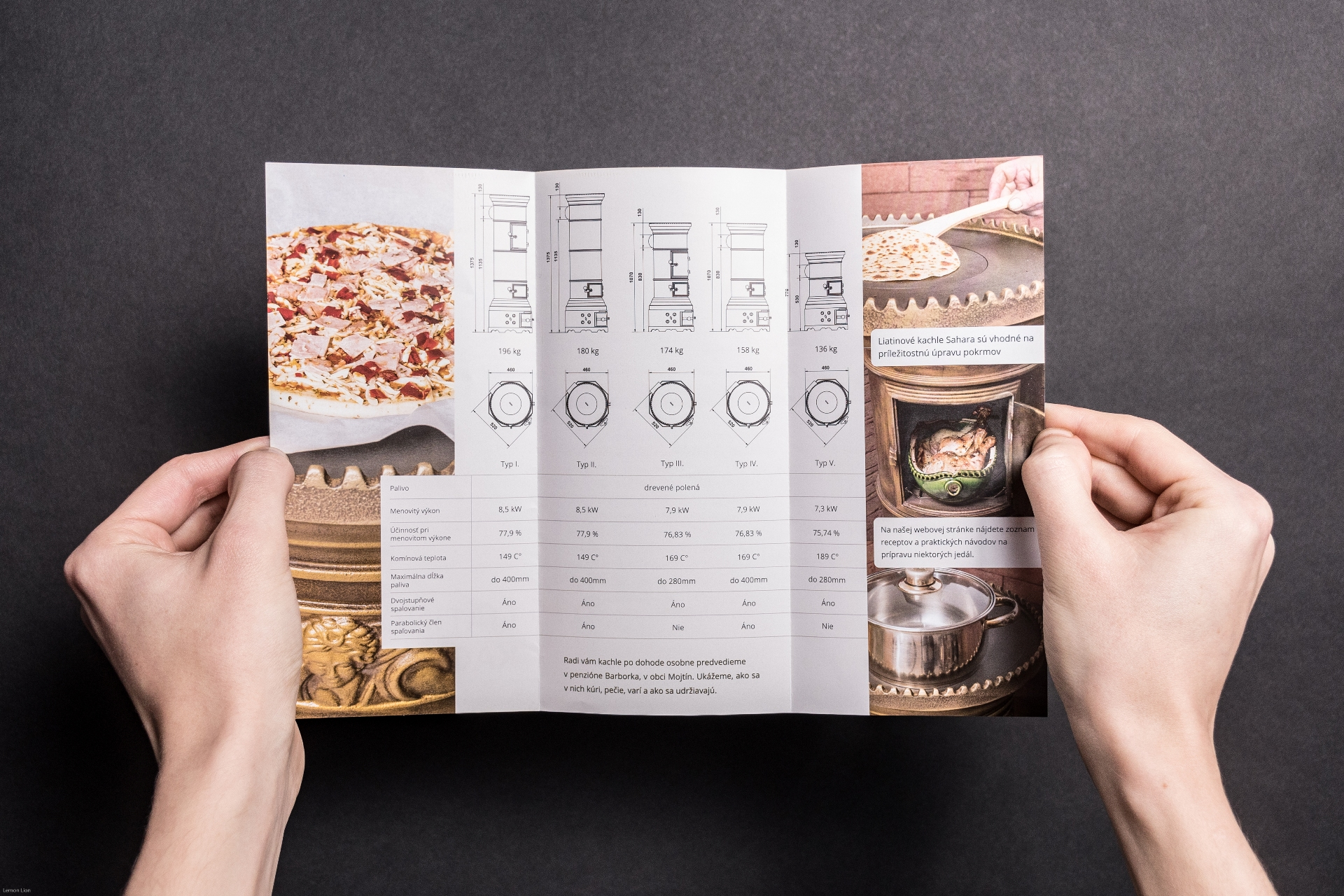 DL Envelope size brochure Iron Cast Stoves Sahara®