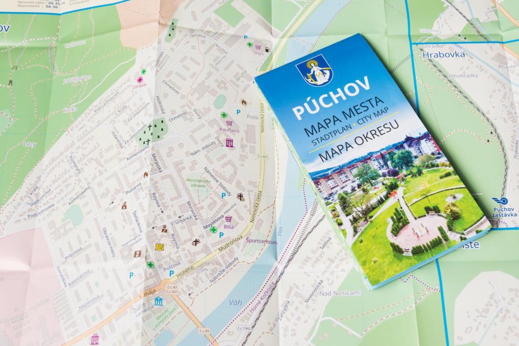 Mapa mesta Púchov
