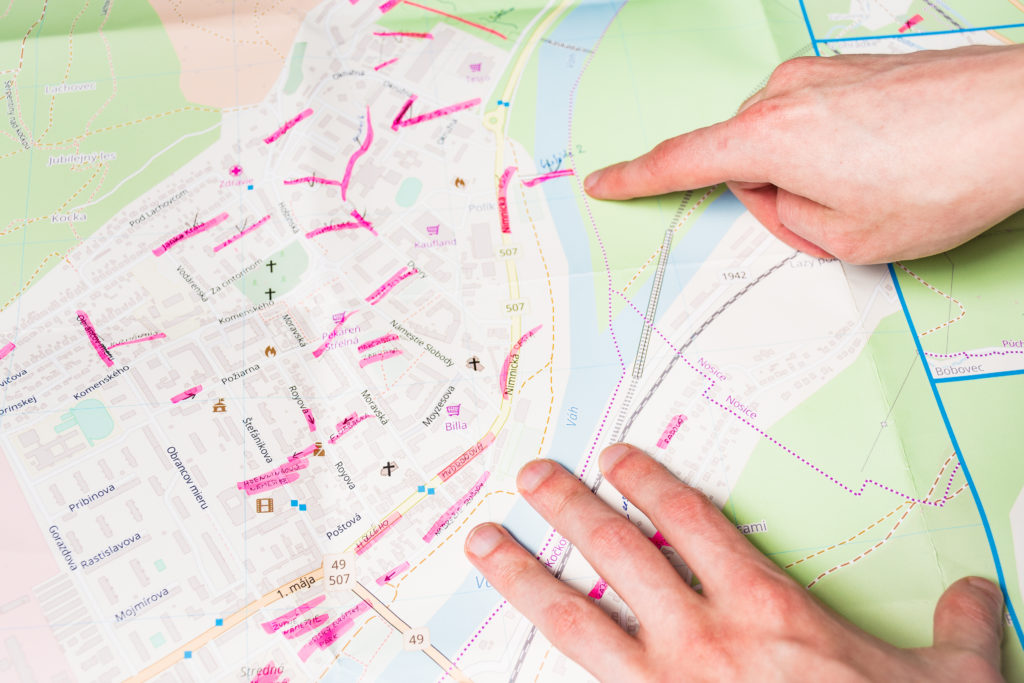 Mapa mesta Púchov proces výroby