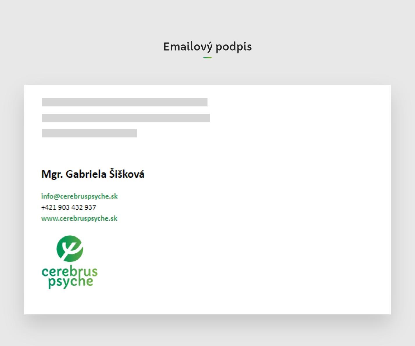 Emailovy podpis cerebrus psyche