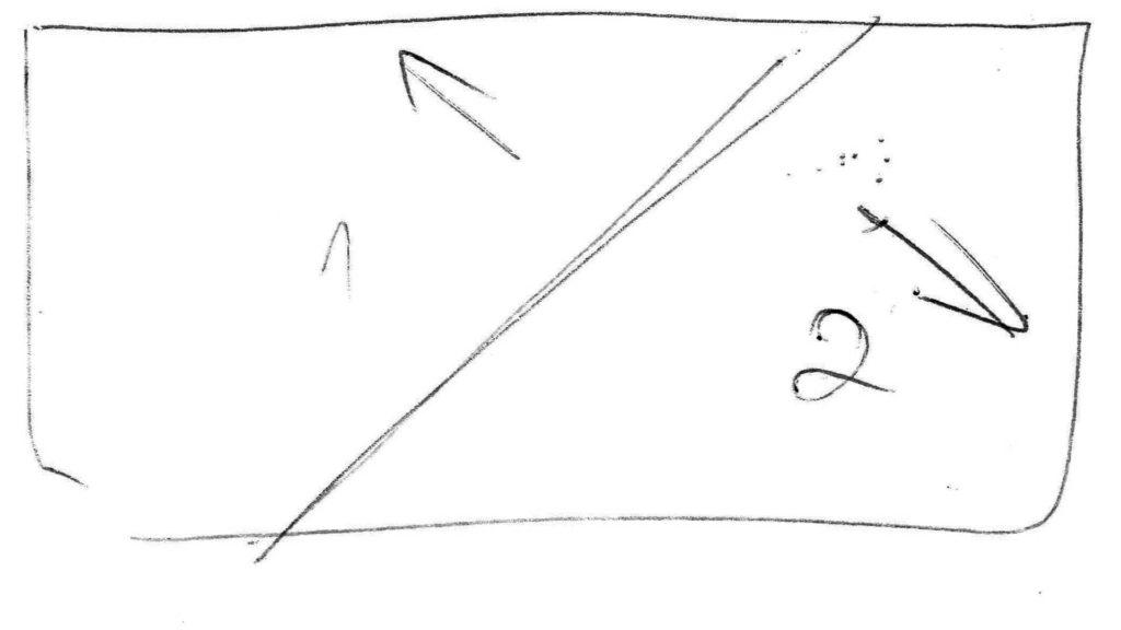 Prvá zo štyroch skicí potrebných pri príprave animovaného loga Sisi Gardens v Púchove.