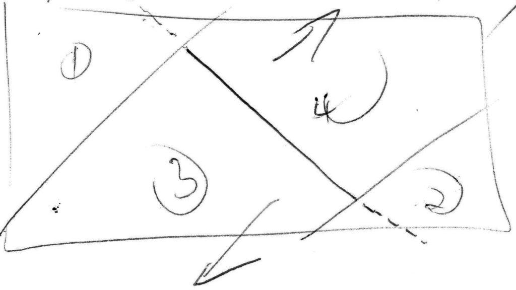 Druhá zo štyroch skicí potrebných pri príprave animovaného loga Sisi Gardens v Púchove.