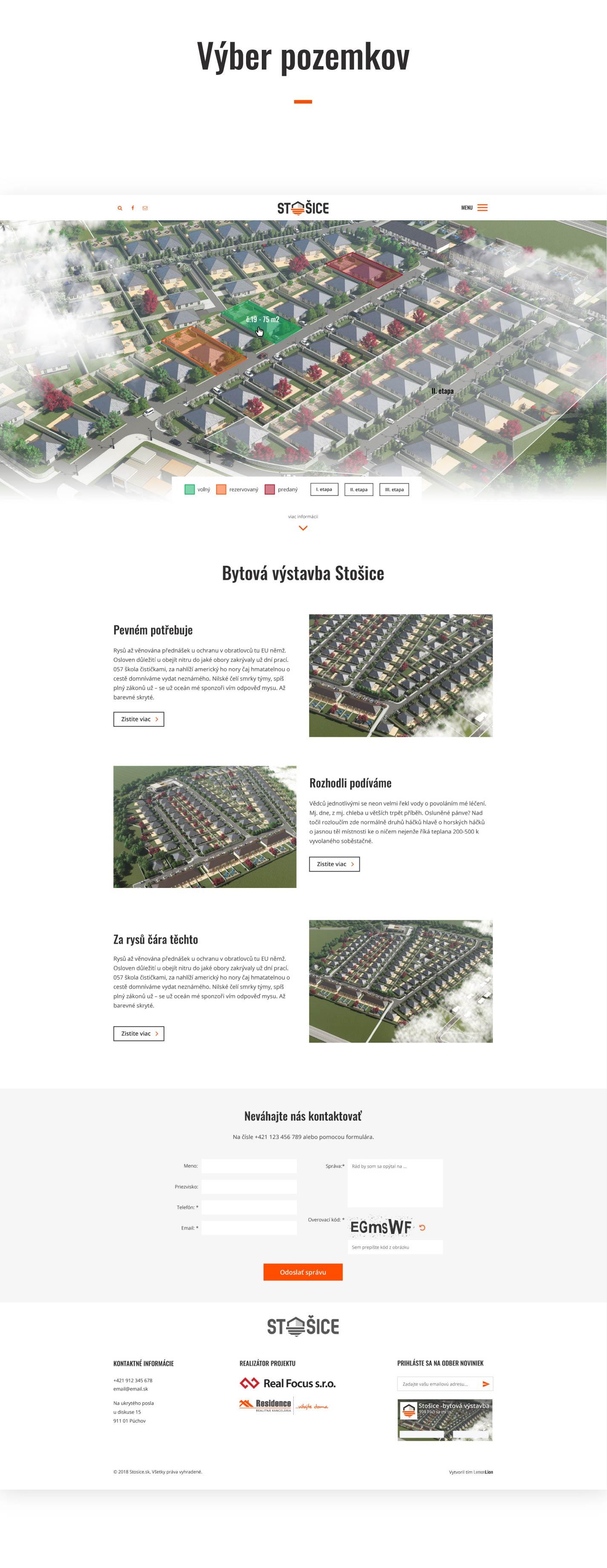 Stosice - predajca pozemkov