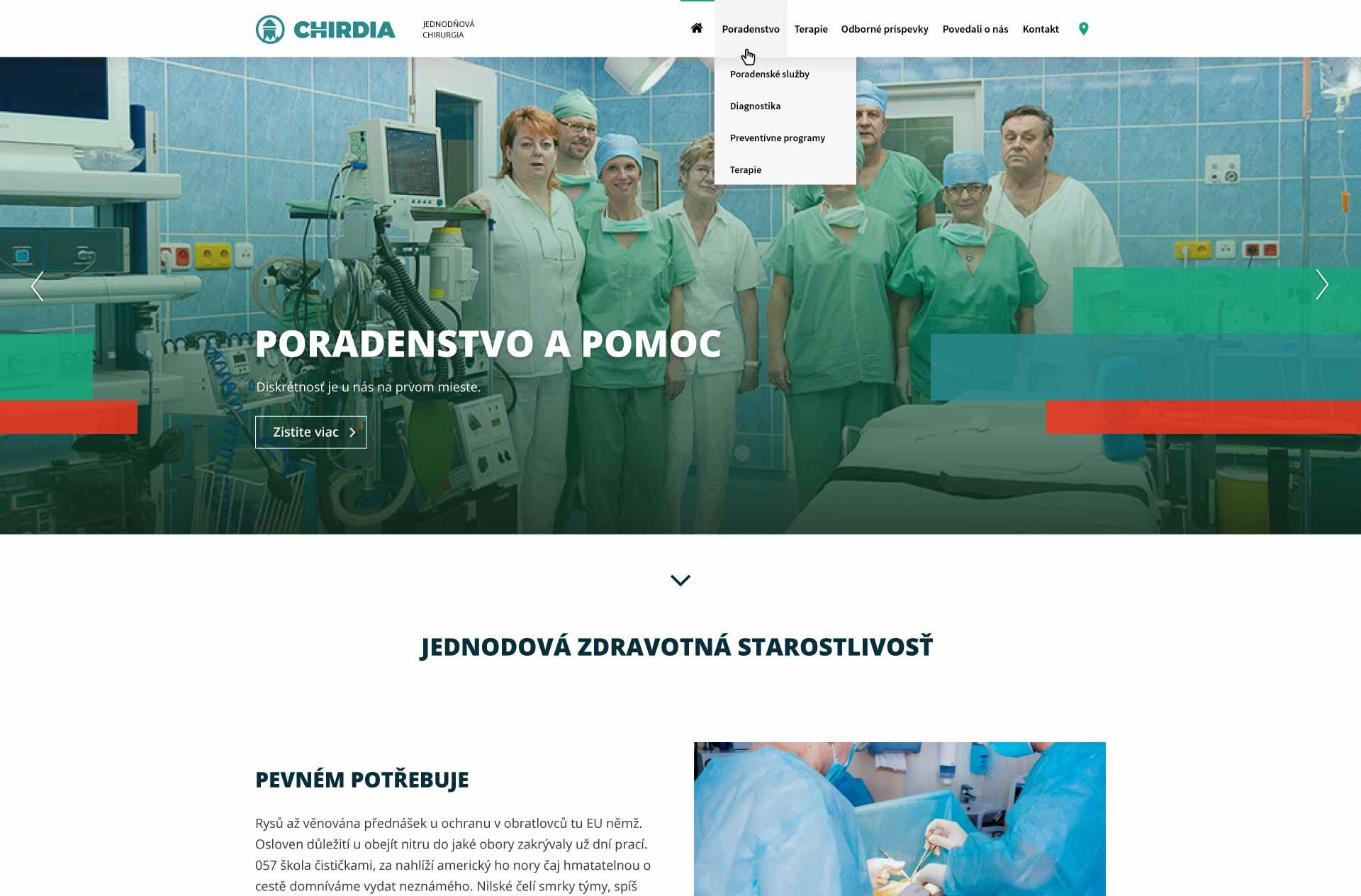 Nová webová stránka Chirdia