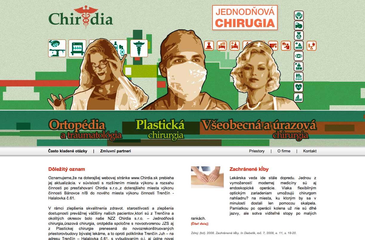 Staršia webová stránka Chirdia