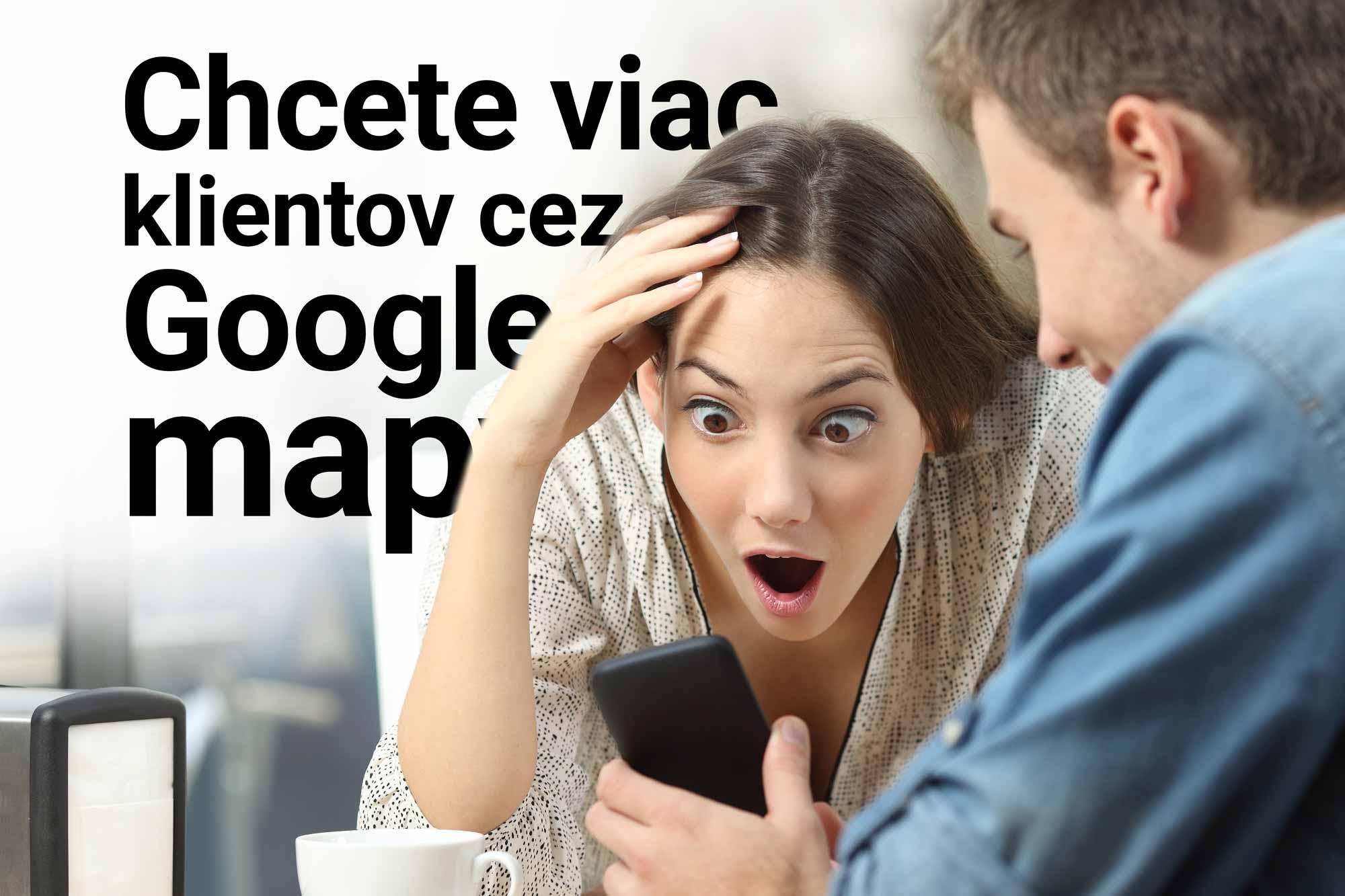 Žena v zajatí WOW efektu pri pohľade na vašu prezentáciu v Google mape