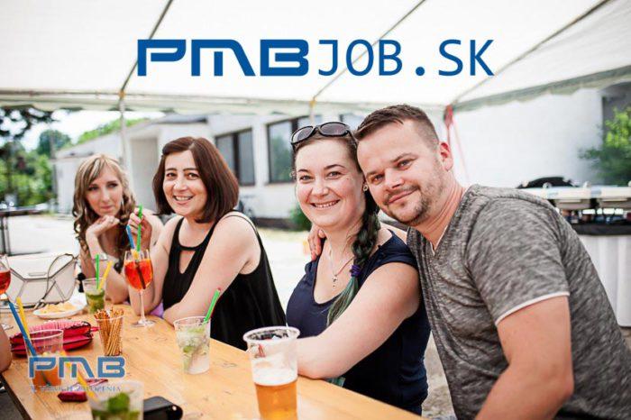 Snímka úvodnej stránky www.PMBjob.sk