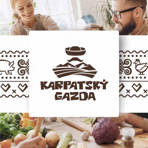 Značka pre predajňu regionálnych potravín Karpatský gazda v Ilave.